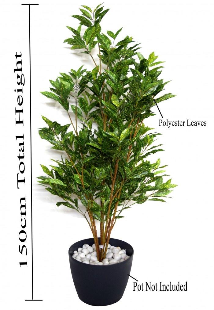 150 CM TALL DECORATIVE ARTIFICIAL CROTON PLANT WITHOUT POT WP27