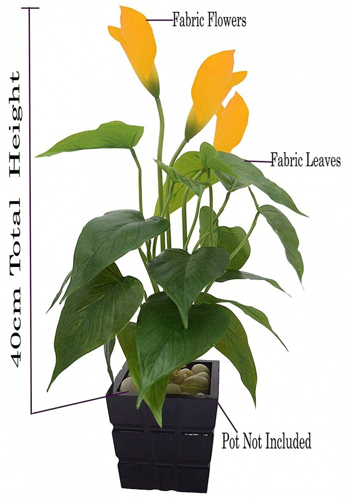 POLYURETHANE ARTIFICIAL REAL -TOUCH CALLA LILY PLANT (40 CM, YELLOW) WP4