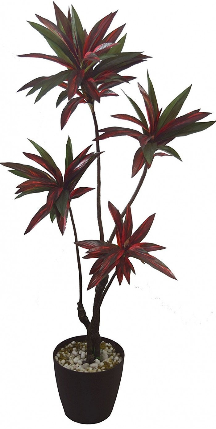 DECORATIV ARTIFICIAL CORDYLINE FLOOR PLANT WITHOUT POT (RED/GREEN, 160 CM TALL) WP13