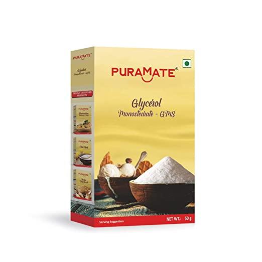 10% Off PURAMATE Glycerol Monostearate GMS Powder 25 G Cake Ingredients - Divena In