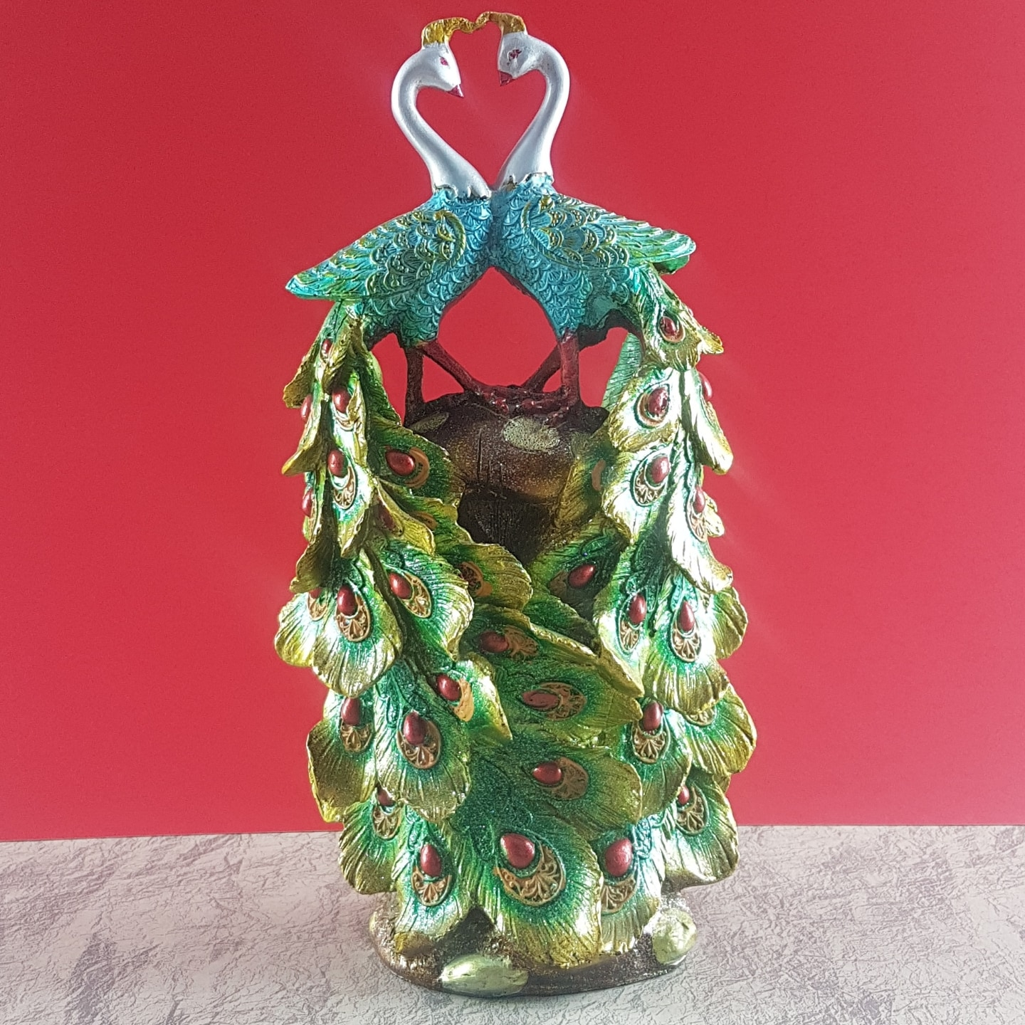Peacock Couple Idol Art Decor Showpiece 02