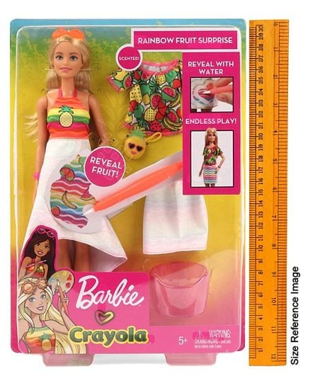 Barbie Crayola Cutie Fruity Surprise Doll Multicolour GBK18