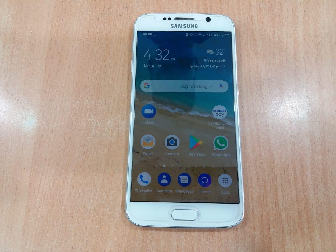Samsung Galaxy S6 (White Pearl, 32 GB)  (3 GB RAM) Used Mobile