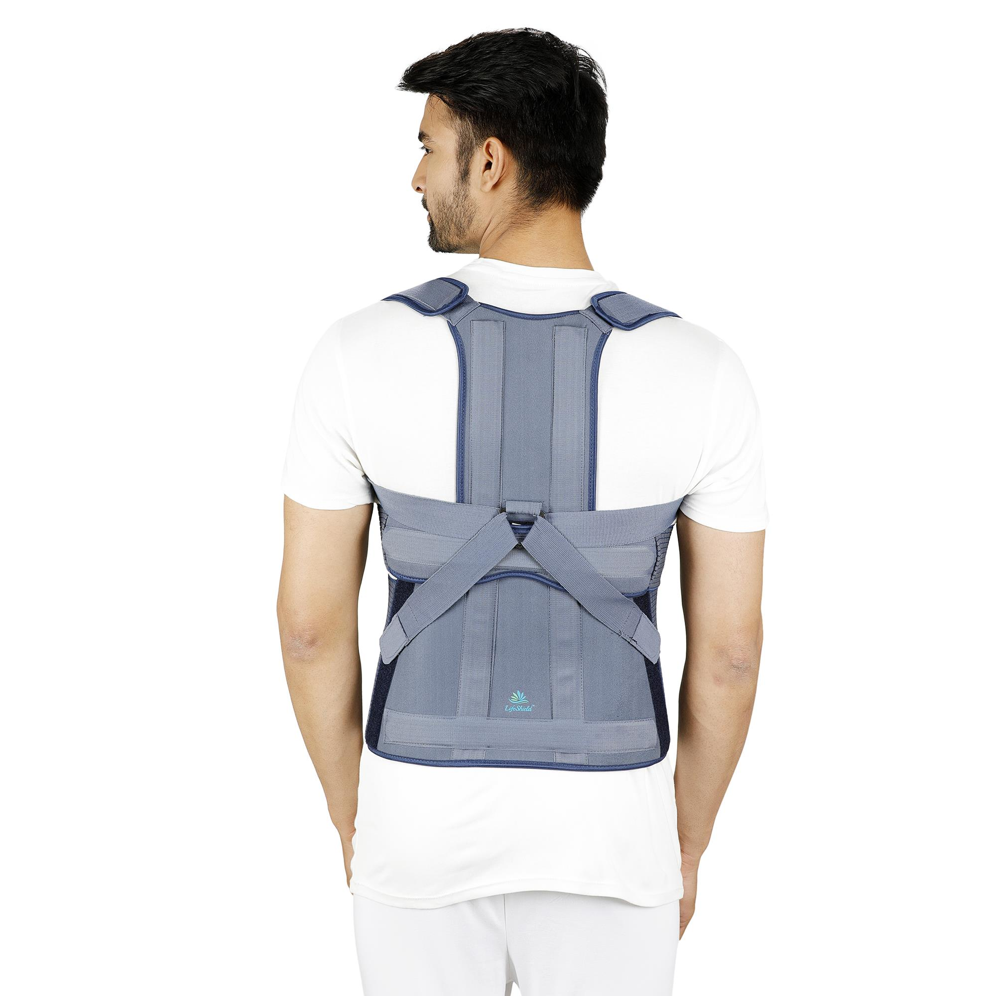 Lifeshield Taylor's Spine Brace: Supports You In Fracture Or Pain In Dorso Lumbar Spine Via Rigid Aluminium Splints (Long, Special)