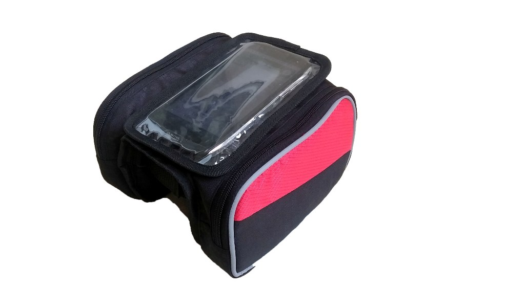 Bicycle Top Tube Bag - Large (Red)