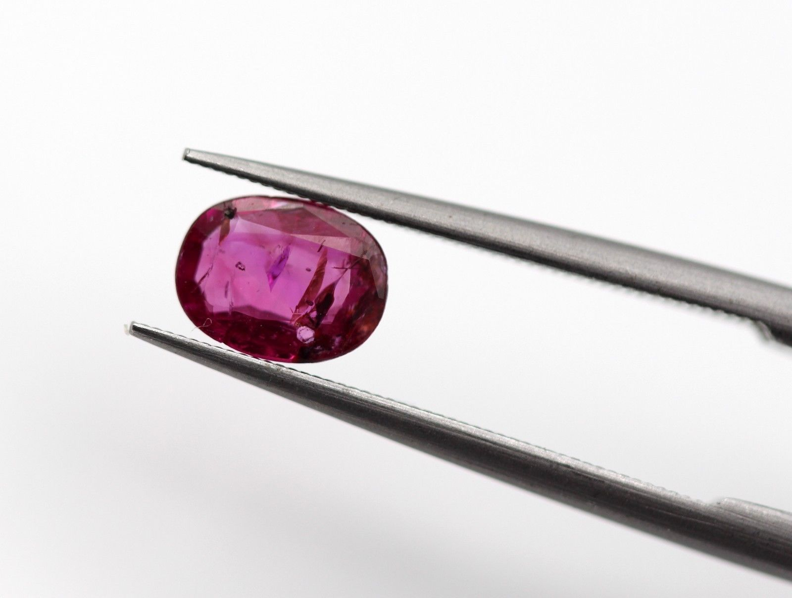 0.53 Ct Ruby Natural Gemstone Burma Pinkish Red Oval Shape Certified