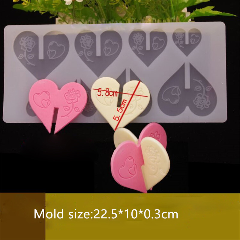 3D Heart Shape Silicone Chocolate Fondant Sugar Paste Garnishing Mould Cake Decorating - Divena In