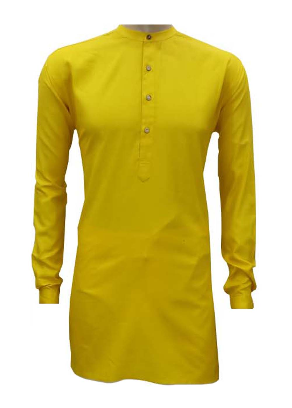 Men's Luv-Kush Linen Cotton Short Plain Color Kurta With Collar (38, LK-02)