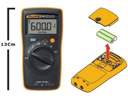 FLUKE - DIGITAL MULTIMETER (600V AC/DC) (Fluke -101) (T/E/DMM/FLK/600/001) + FREE CALIBRATION CERTIFICATE