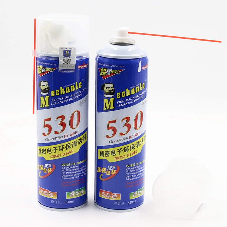 MECHANIC 530 Spray High Precision Electronic Contact Cleaner Original Blue White Packing 550ml