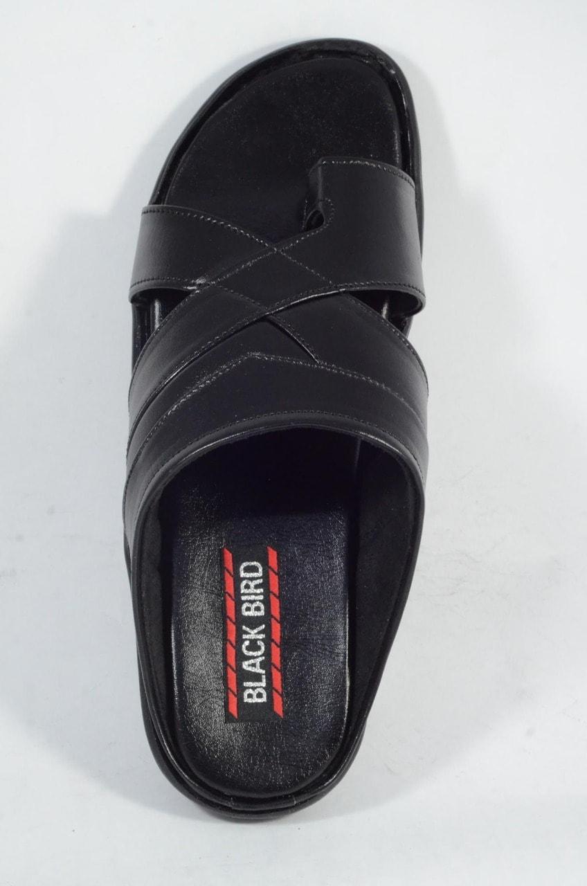 OLADIN MENS' HEAVY SYNTHETIC HANDMADE SLIPPER BLACKBIRD1.3 (black,6-10,6 PAIRS)