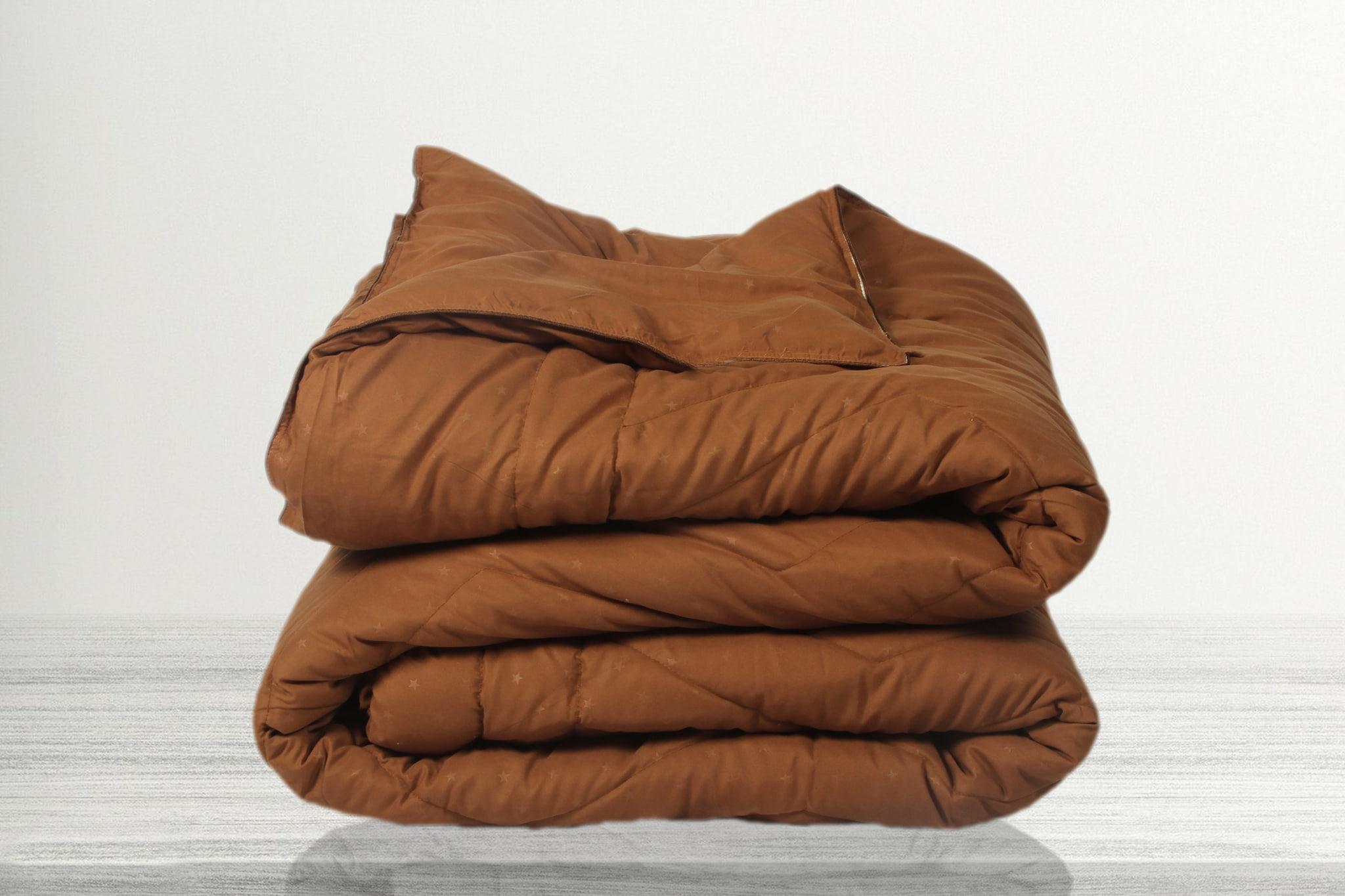 SLEEP STAR COMFORTER (224cm x   264cm DOUBLE BED,METALLIC GOLD)