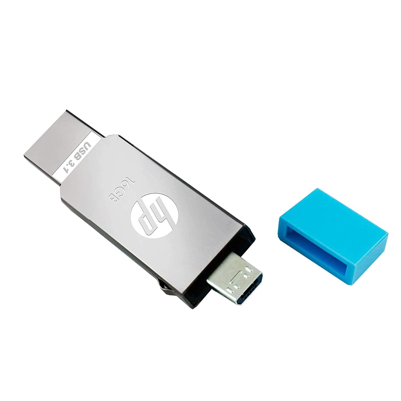 Pen Drive Hp 16GB X302M  Metal OTG  3.1