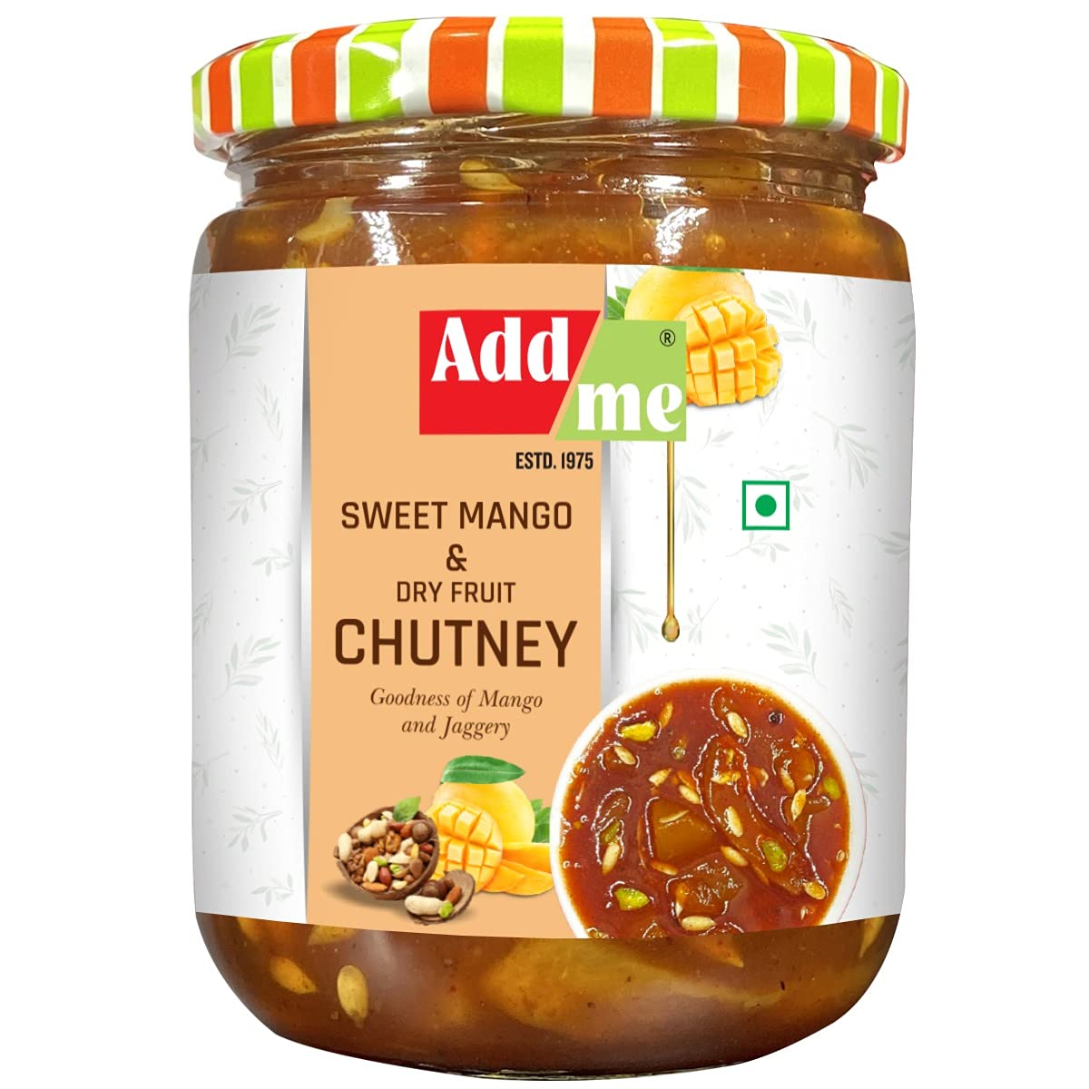 Add Me Chunda Pickle Sweet Mango Jeera Chutney Without Oil 600g & Dry Aam Ka Pickle Achar 500gm, Very Less Mustard Oil Mixed Combo Offer Glass Pack