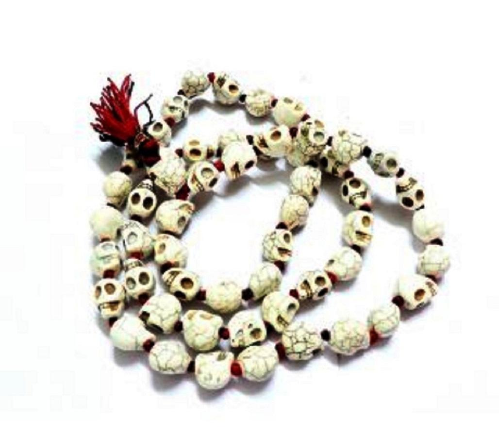 Numeroastro Skull (Nar Mund) Stone Mala (Big Beads) For Good Luck (54+1=55 Beads) (1 Pc)