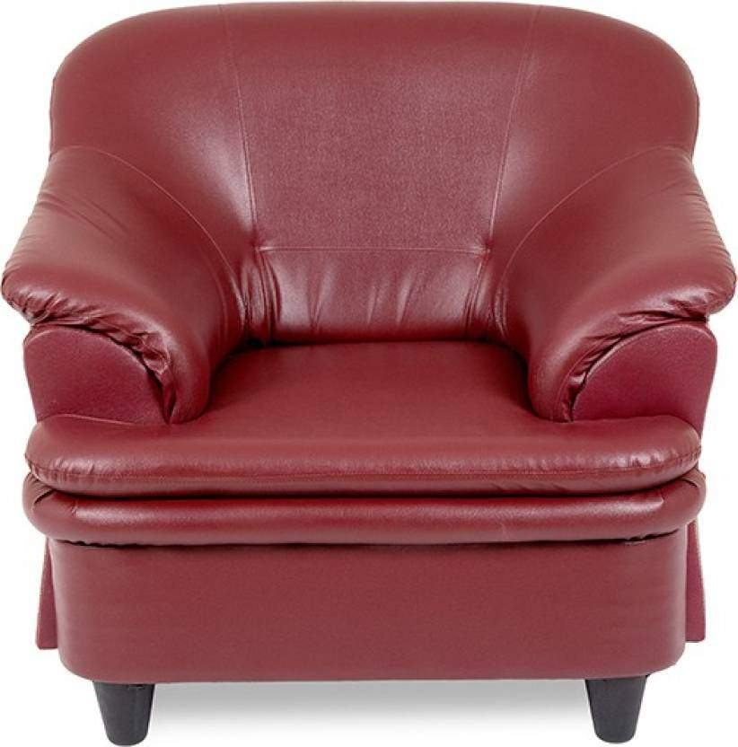 Housefull 100010048 Leatherette 3 + 1 + 1 Sofa Set (Raspberry)