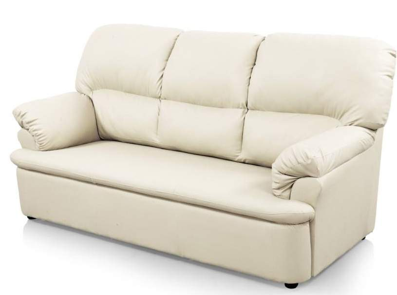 Comfort Couch Ivy Leatherette 3 + 1 + 1 Sofa Set (White)