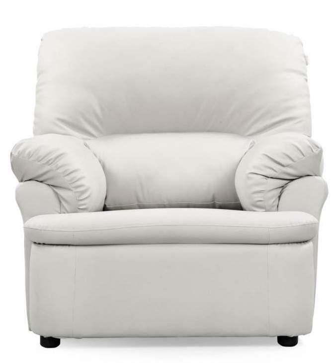 Comfort Couch Ivy TCCB09MAGIC103 Leatherette 3 + 1 + 1 Sofa Set (White)