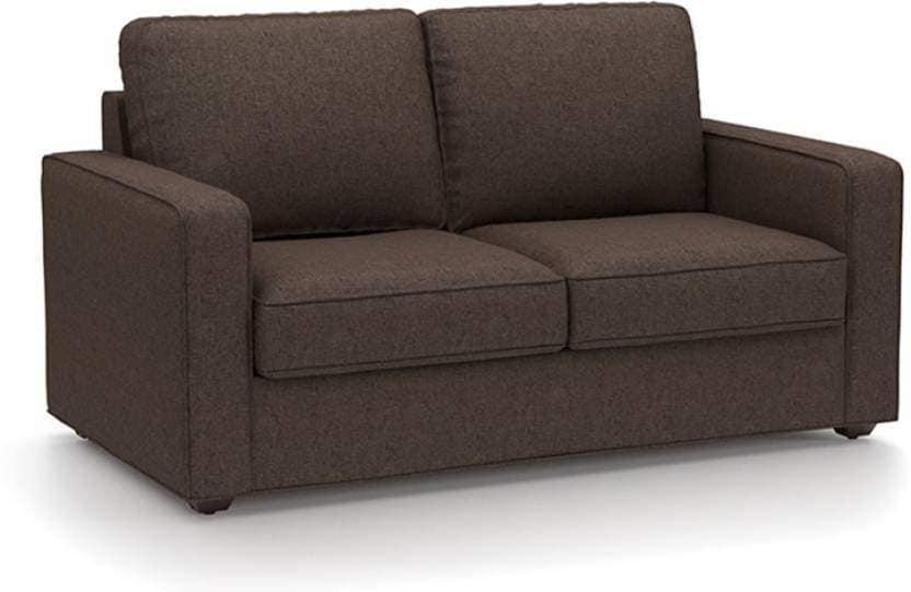 Urban Ladder Apollo Compact Fabric 111 3 + 2 + 1 + 1 Sofa Set (Brown)