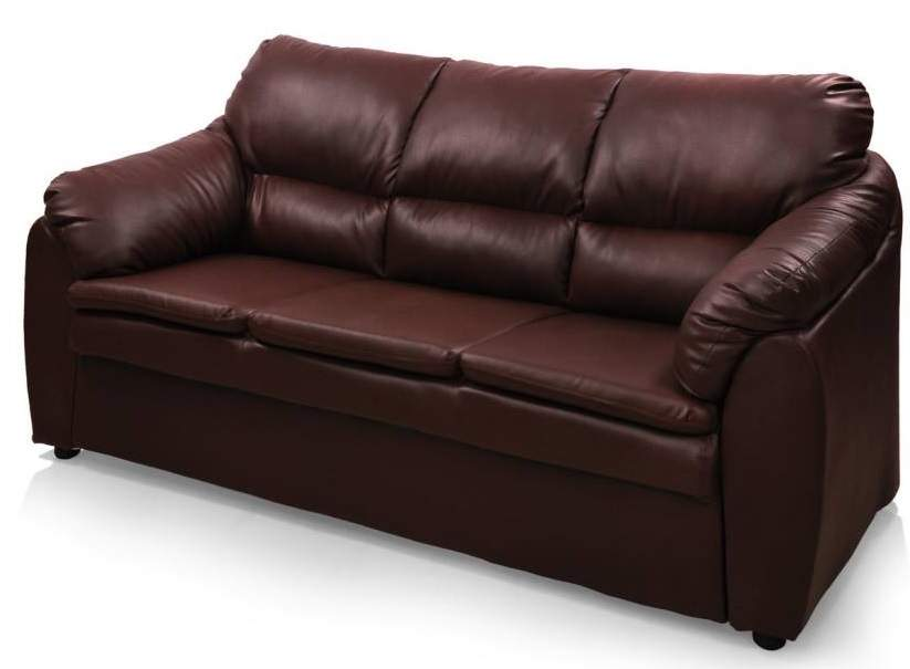 Comfort Couch Lily Leatherette 3 + 1 + 1 Sofa Set (Red Brown)