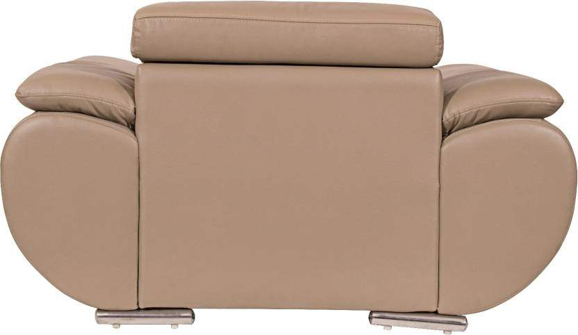 Home City Valley Leatherette 3 + 1 + 1 Sofa Set (Beige)