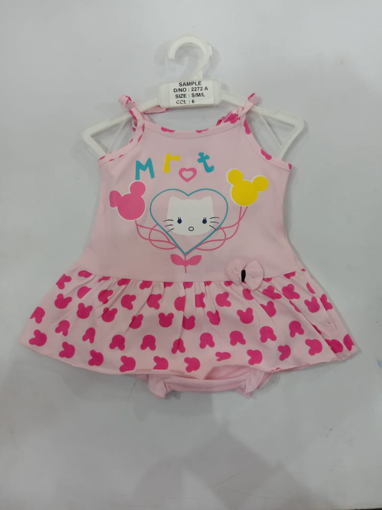Hello Baby's Girls Sleeveless Angel Frock For Your  0-1 Year Lil Ones | Pack Of 6 Pcs(RATE PER PC:90) (12-18(L))
