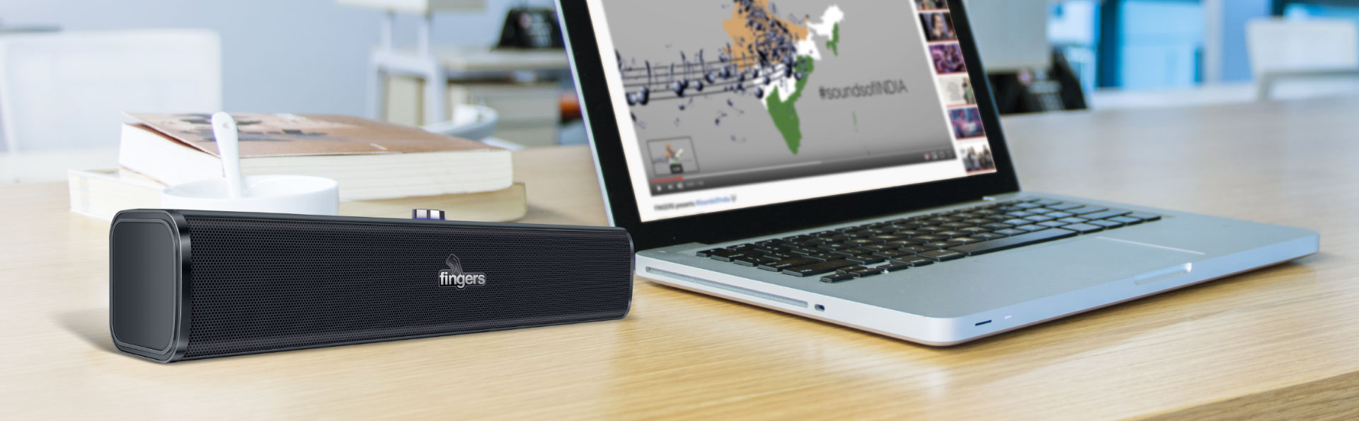 Fingers P 2.0 Stereo Speaker With AC Power