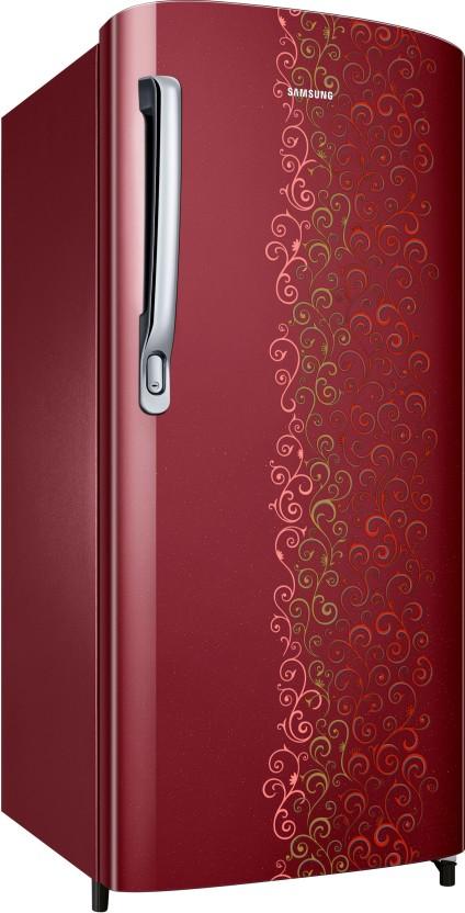 Samsung 192 L Direct Cool Single Door Refrigerator  (Royal Tendril Red, RR19M1712RJ-HL/RR19M2712RJ-NL)