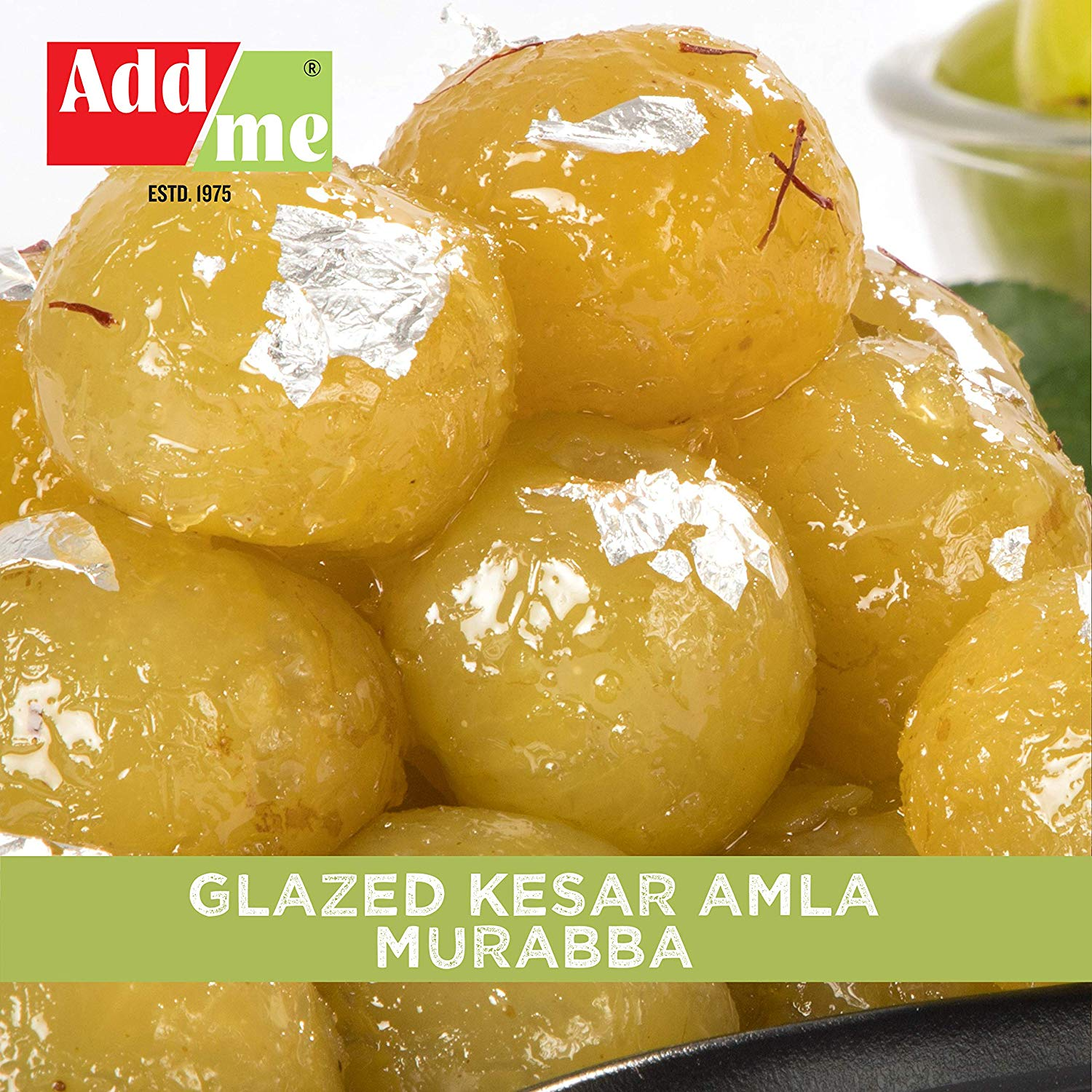 Add Me Sweets Kesar Amla Murabba Large Organic ( Vacuum Packed Without Syrup) 750gm X2 Candy