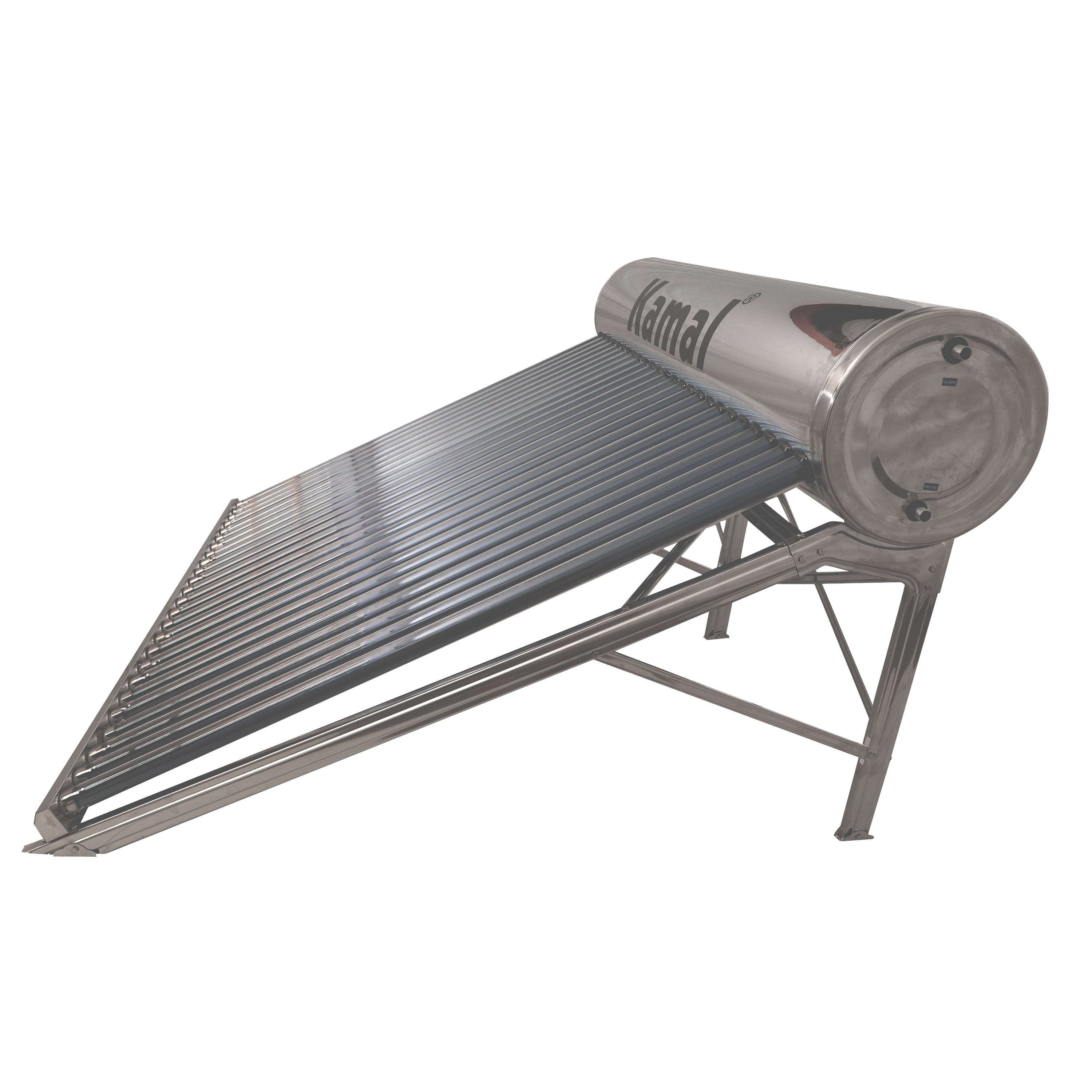 250LPD ETC Copper Tank Outer SS Solar Water Heater