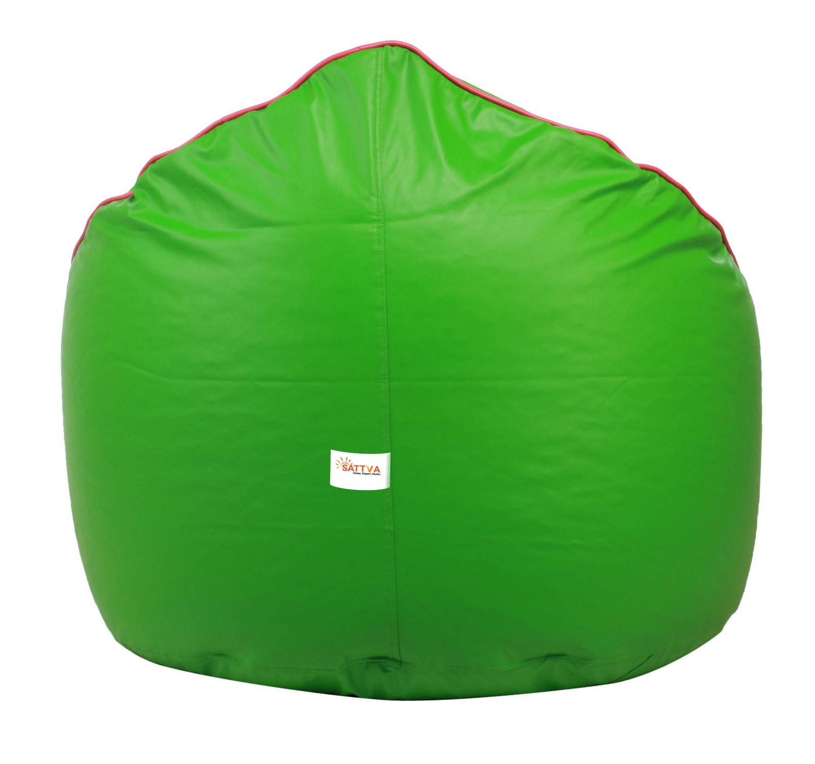 Sattva Muddha Sofa XXXL Bean Bag With Piping Design (with Beans) XXXL - Orange With Navy Blue Piping (XXXL, Neon Green With Pink Piping)