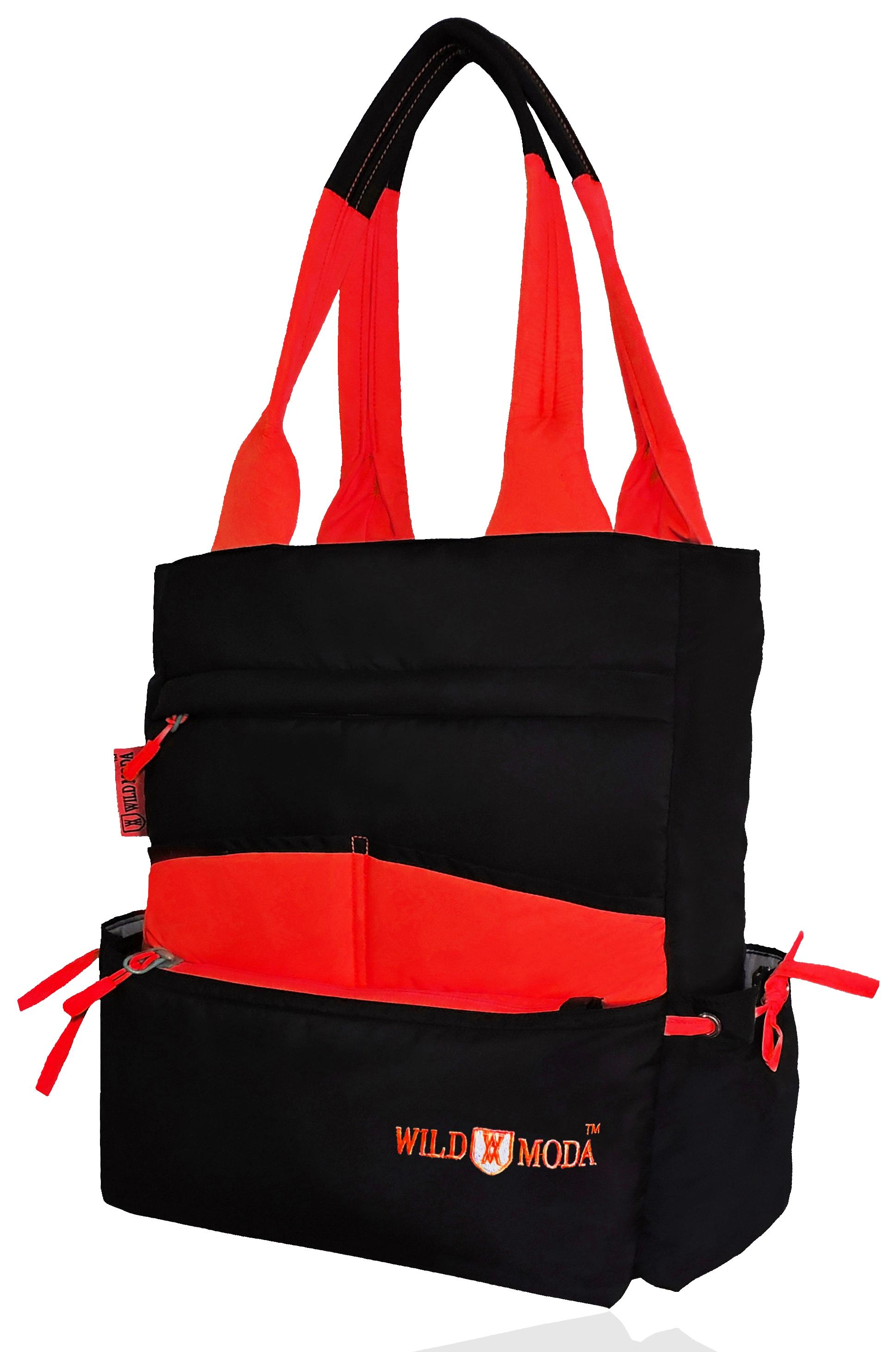 Wildmoda Women Black , Red Shoulder Bag
