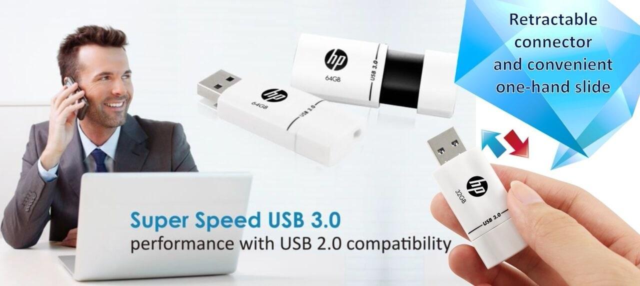 Pen Drive Hp 64GB X765w Plastic 3.0