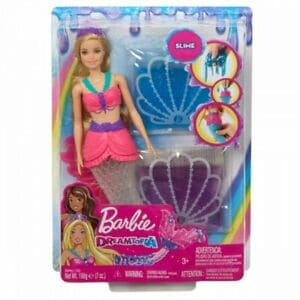 BARBIE DREAMTOPIA MERMAID DOLL WITH 2 SLIME PACKETS GKT75