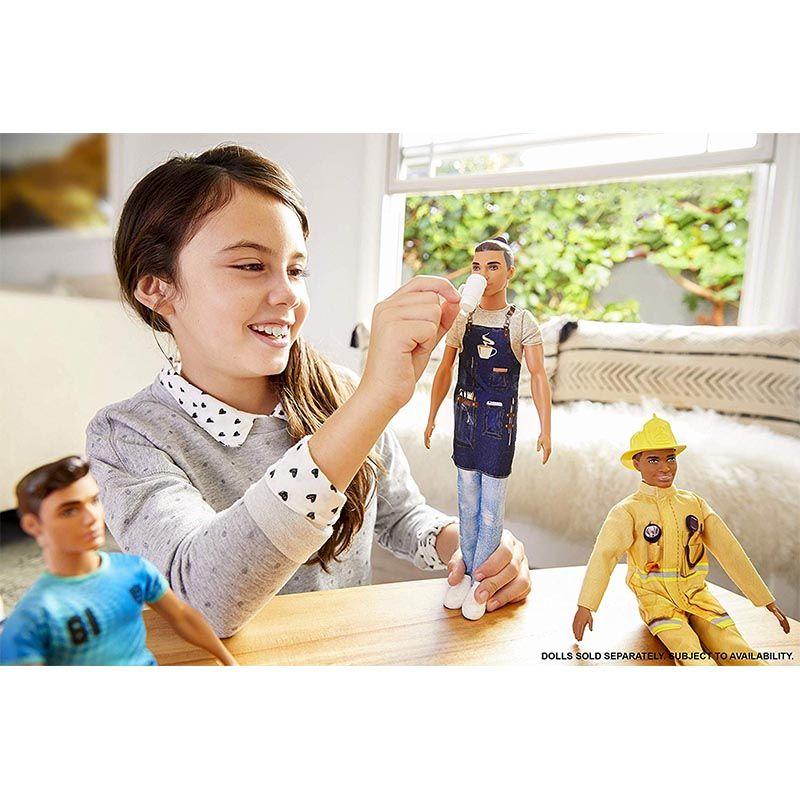 Barbie Ken Barista Doll Blue Grey - 30 Cm FXP03