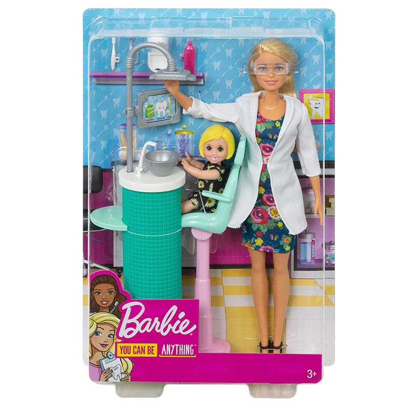 BARBIE DENTIST DOLL AND PLAYSET FXP16