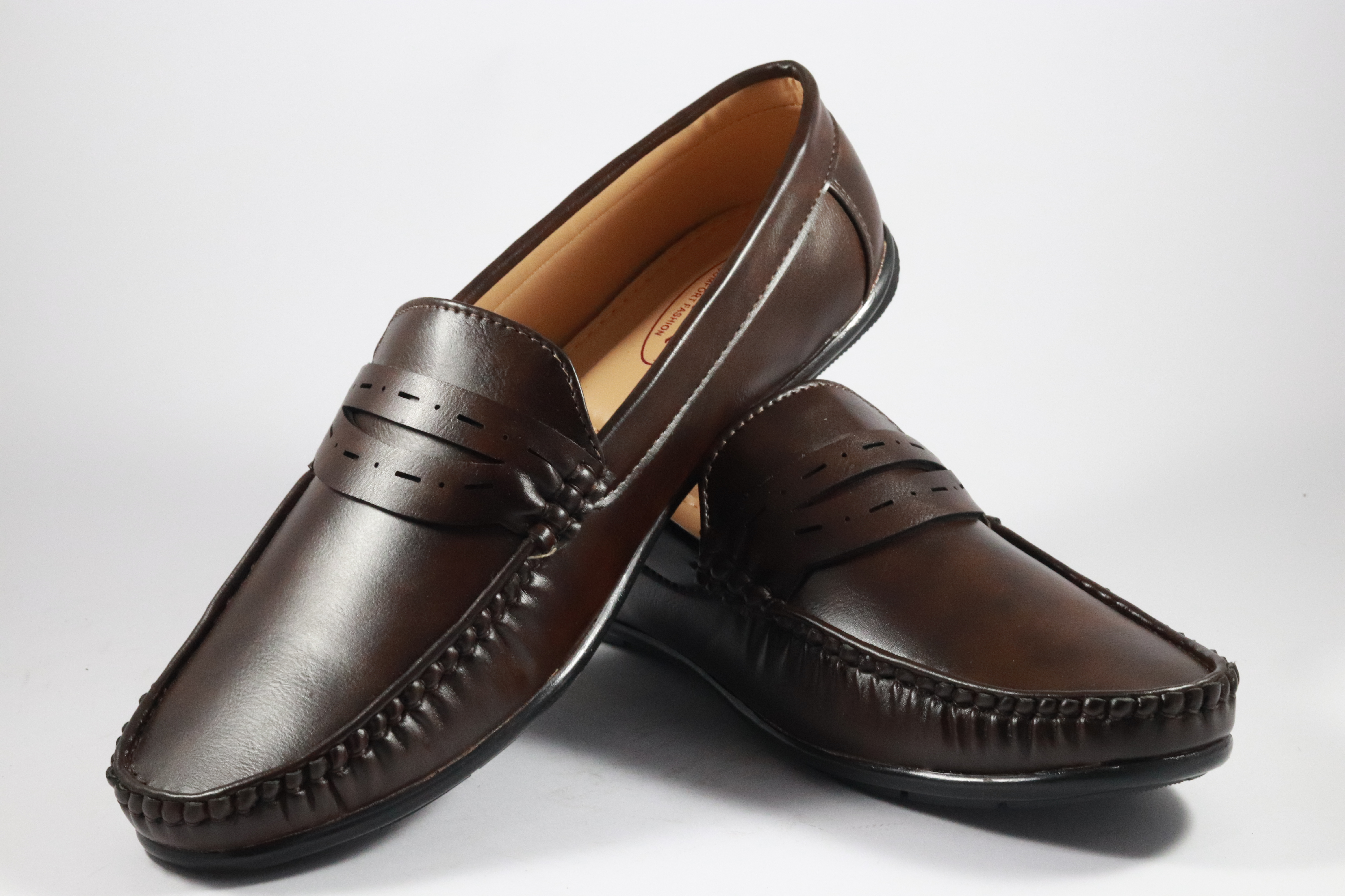 B&B Tiger Loafers For Men's Wear LF-17 BROWN (BROWN, 7-10( Men`s), PAIR'S)