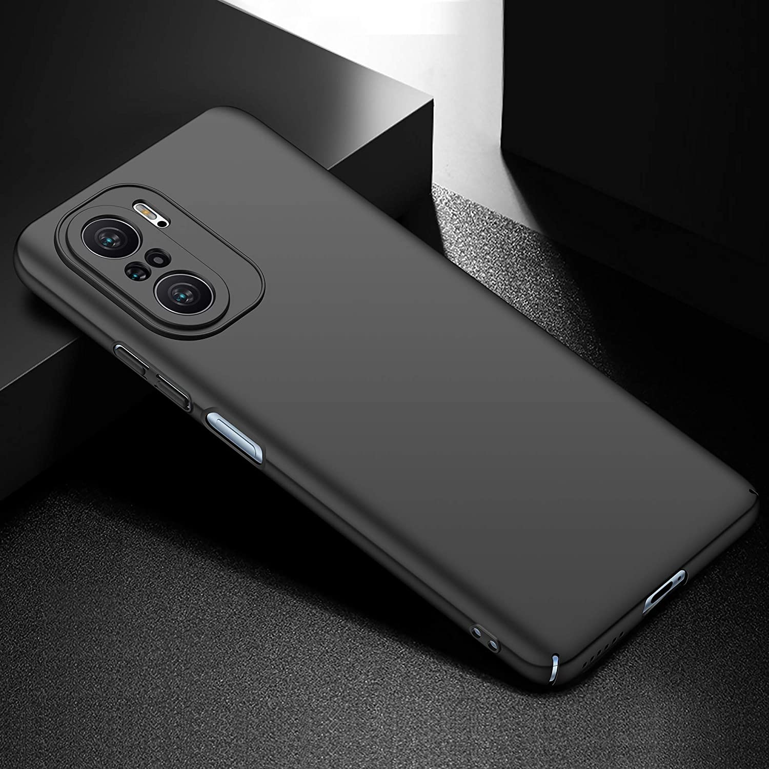 Protective Sturdy Case For Xiaomi Poco F3 GT With Shock-Proof, Friction-Resistant ,Thin And Light Features (Black)