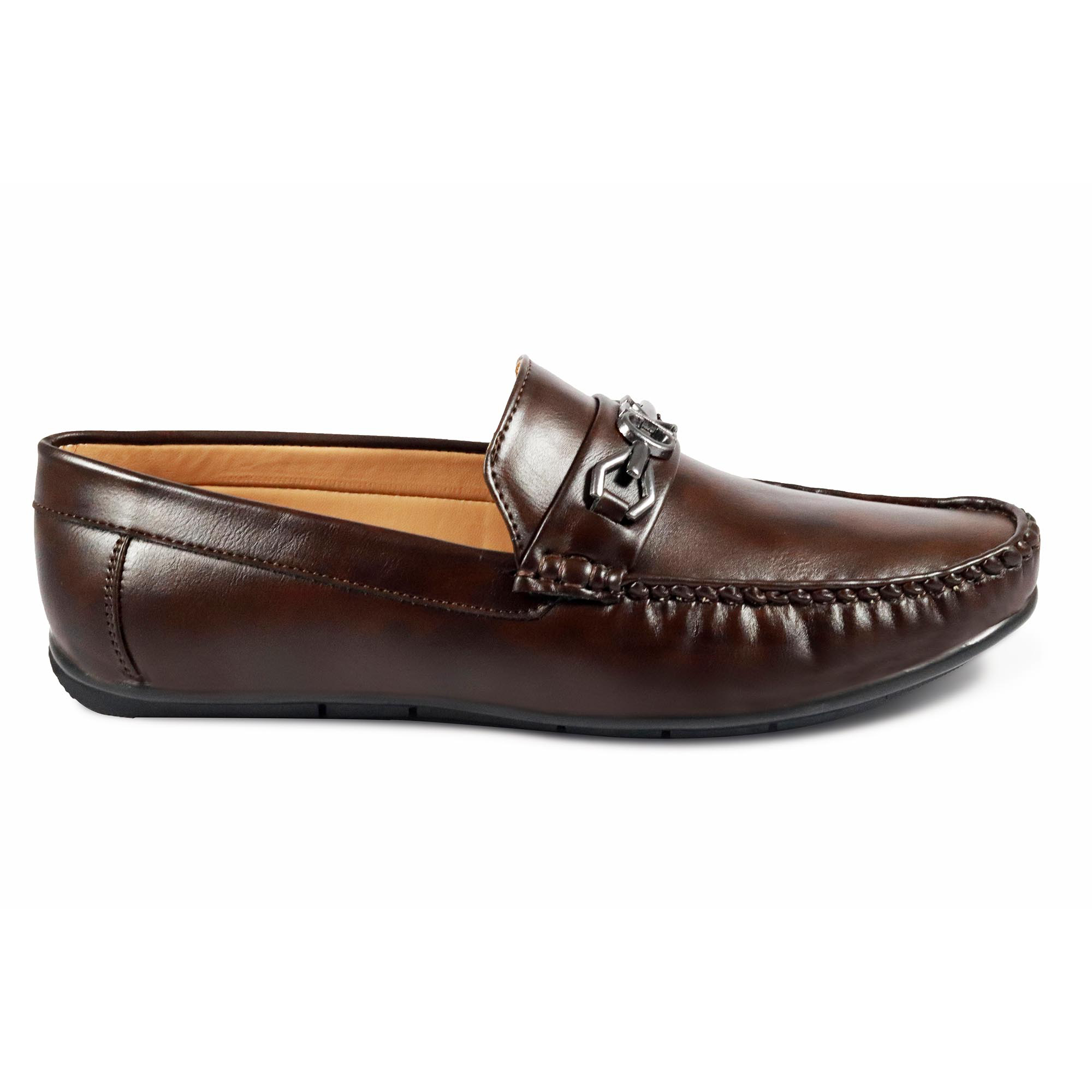 B&B Tiger Loafers For Men's Wear LF-14 BROWN (BROWN, 7-10( Men`s), PAIR'S)