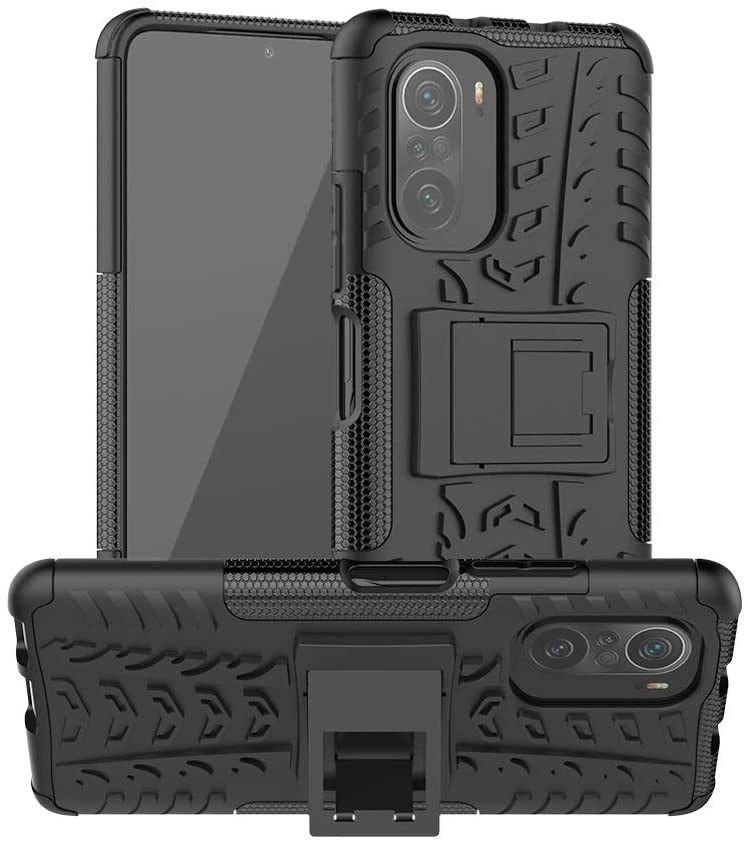 Tyre Pattern Design Heavy Duty Robust Protection Case For Xiaomi Redmi K40 (Black)