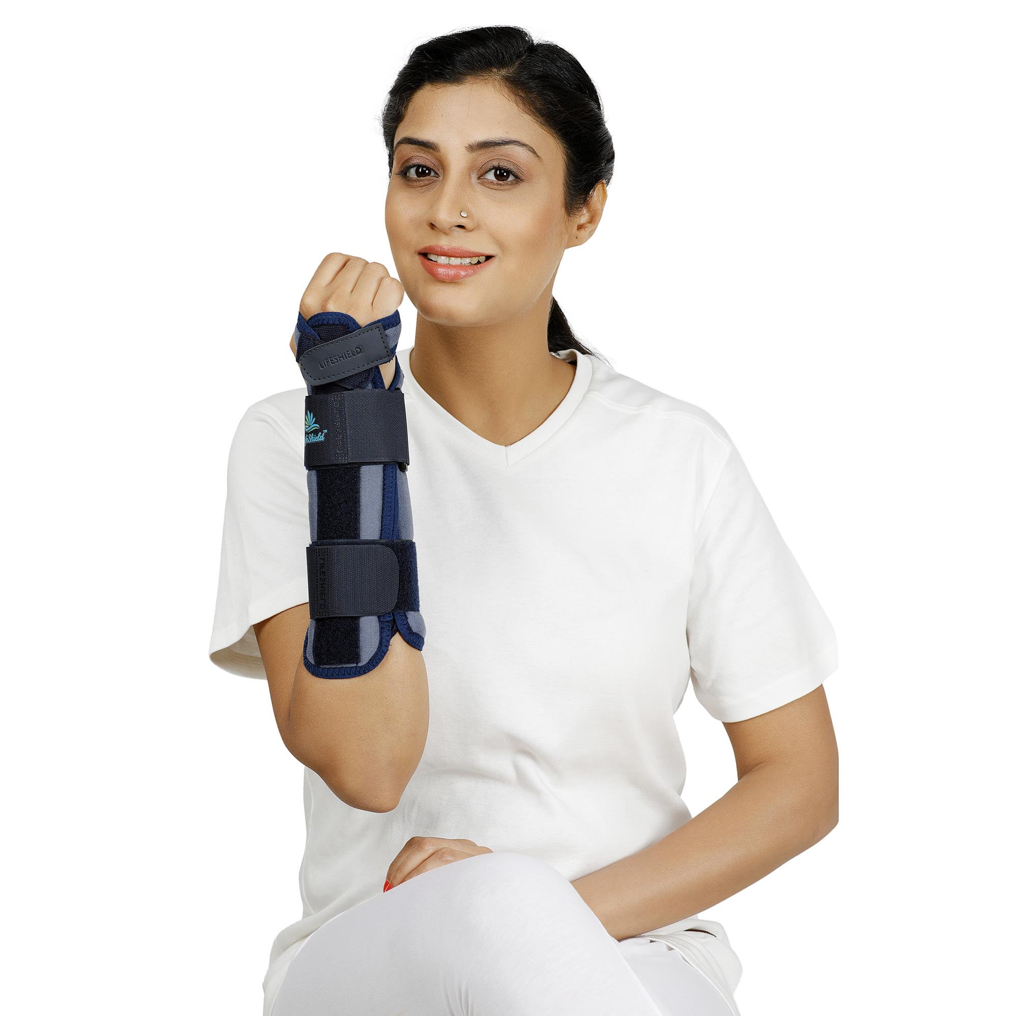 Lifeshield Forearm Splint: For Pain Relief In Forearm Injury, Relaxes Muscles And Supports Forearm With Splints (Universal)
