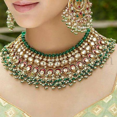 7fecb40677 Sadhna Kundan Jewellery Set - Imitation Jewellery Set - Santosh ...