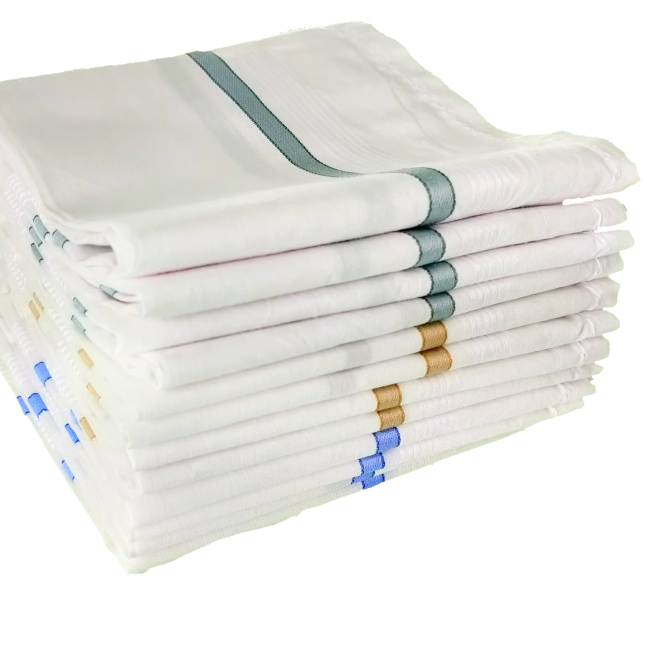 Mens White Cotton Handkerchiefs High Quality (Pack Of 12)