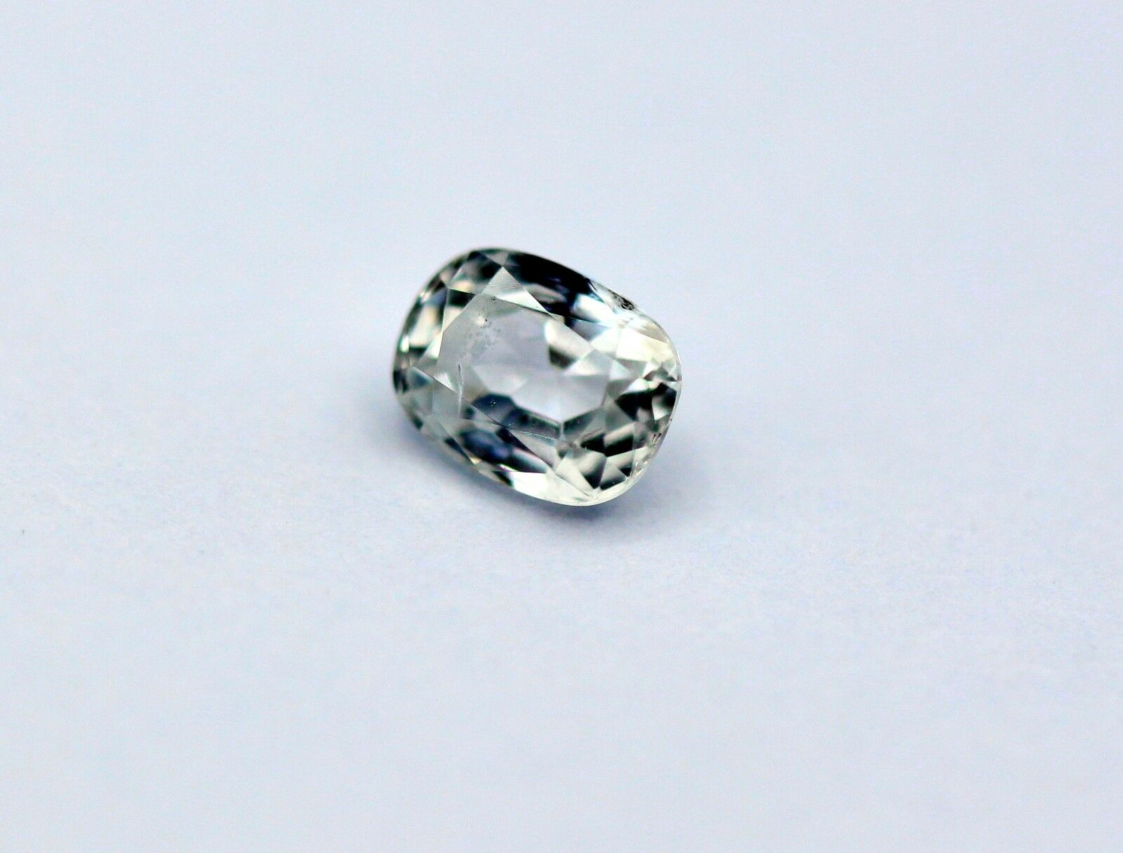 0.79 Ct White Sapphire Natural Ceylon Gemstone Colorless Oval Certified