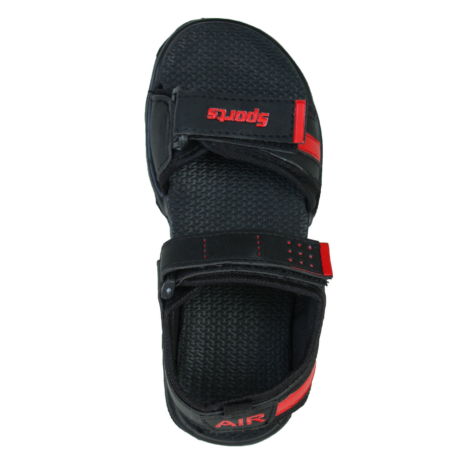 Foot Trends Rascal 2 BK RD Stylish & Trendy Casual Sandal For Kids (1-3) (Red, 11-13, 6 PAIR)