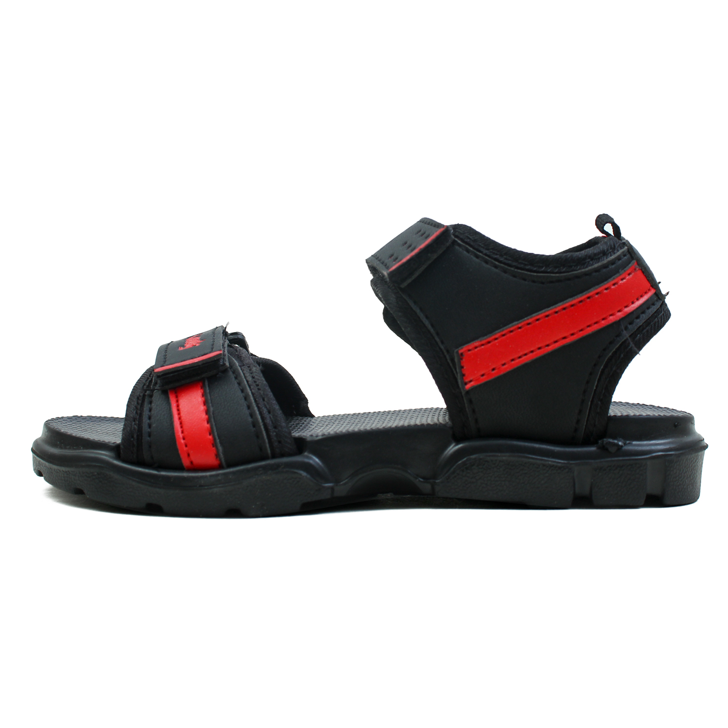 Foot Trends Rascal 2 BK RD Stylish & Trendy Casual Sandal For Kids (4-5) (Red, 4-5, 4 PAIR)