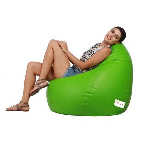 Excellent Sattva Classic Xl Bean Bag With Beans Neon Green Bean Machost Co Dining Chair Design Ideas Machostcouk