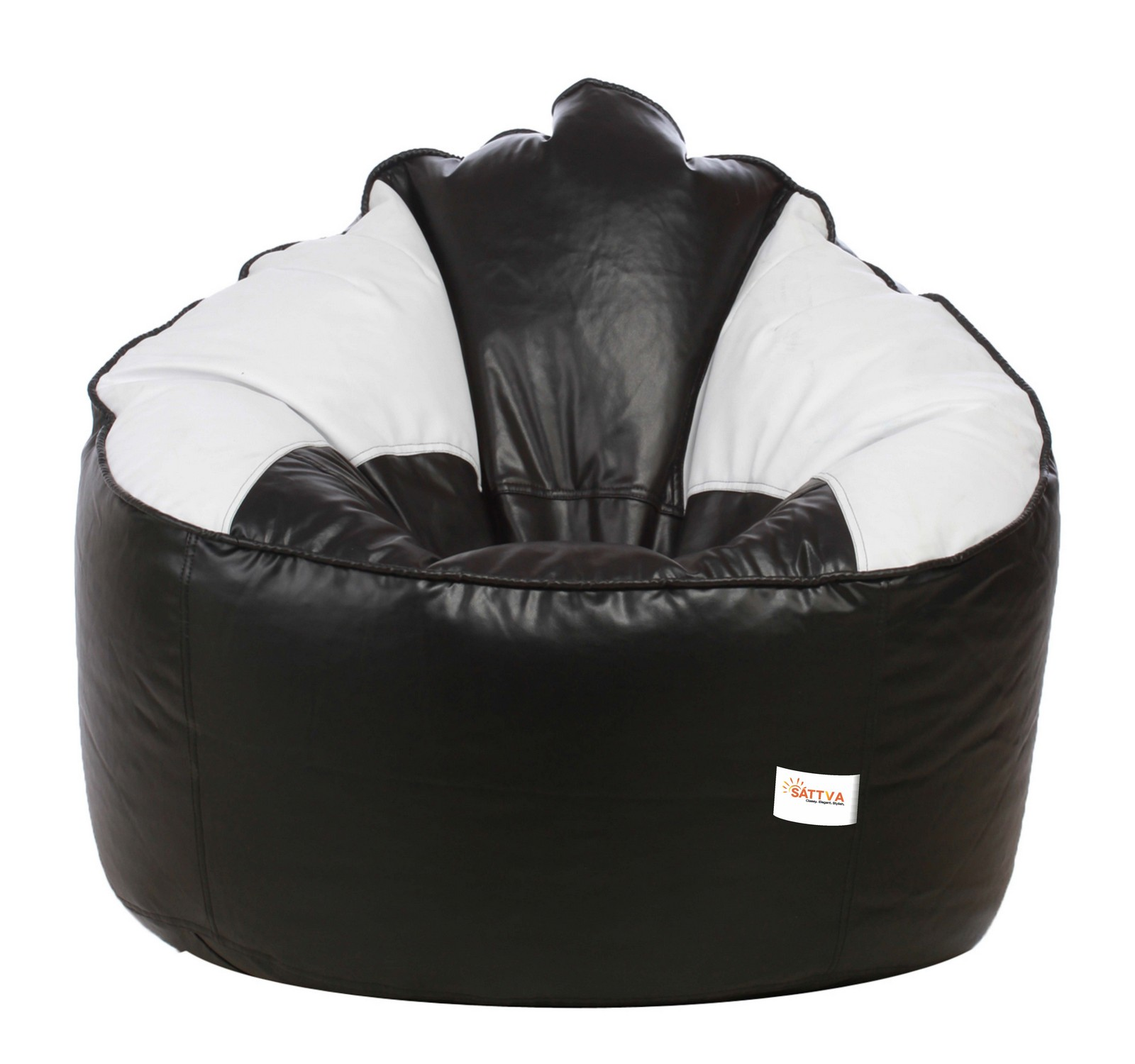 Sattva Muddha Sofa XXXL Bean Bag (with Beans ) Dual  - Black And White
