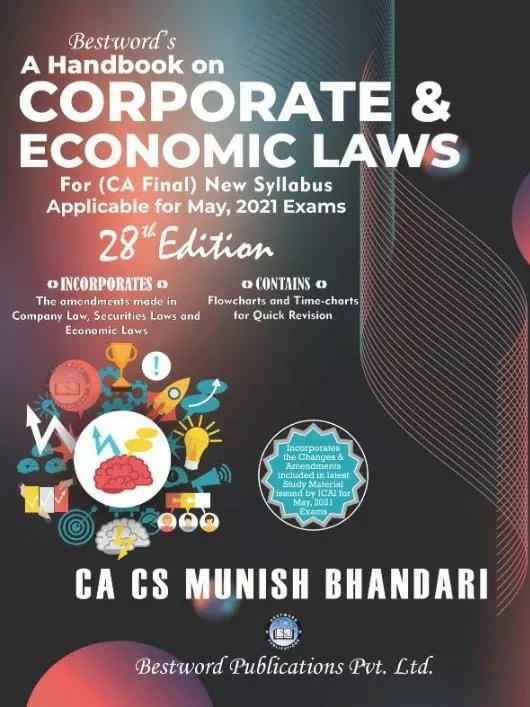 Bestword's Corporate And Economic Laws New Syllabus COMBO Of Three Books By CA CS Munish Bhandari May 2021 Exam