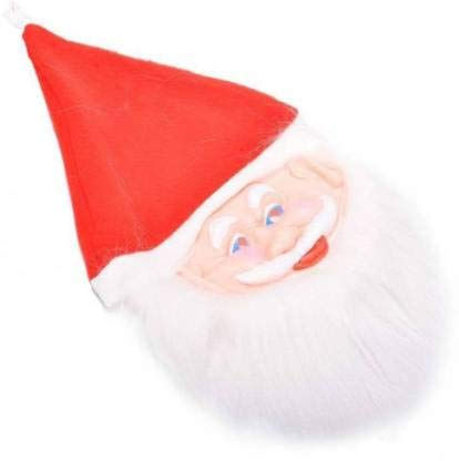 TINY SOULS Christmas Decor Items   Rubber Santa Claus Face Mask   Enjoy The Season Of Advent With Us   (Free Size)